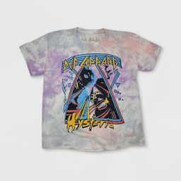Women's Def Leppard Short Sleeve Graphic T-Shirt - Tie-Dye | Target