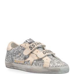 Old School Glitter Grip-Strap Sneakers   Neiman Marcus