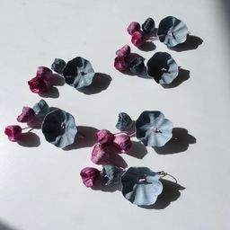 Contemporary paper Earrings  Statement Flowers Earrings Maxi   Etsy   Etsy (US)