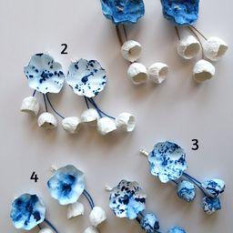 Extension paper Earrings  Statement Flowers Earrings Maxi   Etsy   Etsy (US)