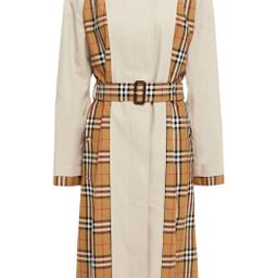 Paneled checked cotton-gabardine trench coat   The Outnet (UK and Europe)
