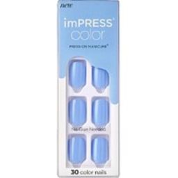 Kiss Baby Why so Blue imPRESS Color Press-On Manicure | Ulta