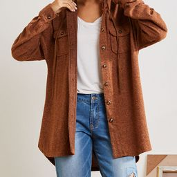 Simple by Suzanne Betro Women's Non-Denim Casual Jackets 101TAUPE - Tan Oversized Button-Up Hooded S | Zulily