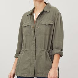 Joules Women's Non-Denim Casual Jackets SOFKHAK - Green Khaki Alexandra Shirt Jacket - Women | Zulily