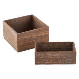 Feathergrain Wooden Rectangle Bin | The Container Store