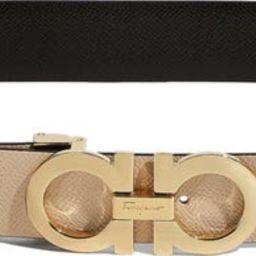 Reversible Gancini Calfskin Leather Belt | Nordstrom