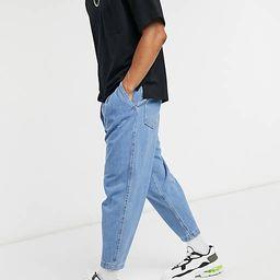 Bershka balloon fit jeans in blue   ASOS (Global)