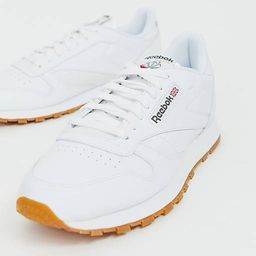 Reebok Classic leather trainers in white   ASOS (Global)