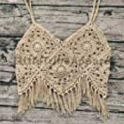 Handmade Crochet Tank Top/Cover Up Boho Style Granny Square Motif TT2 | Amazon (US)