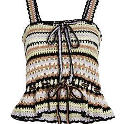 Ulla Johnson Zita Crochet Knit Tank Top, Multi P | INTERMIX