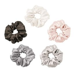 LilySilk 5 Pack Silk Scrunchies Charmeuse Colorful-Silky Scrunchy -Scrunchies For Hair -for Girls...   Amazon (US)