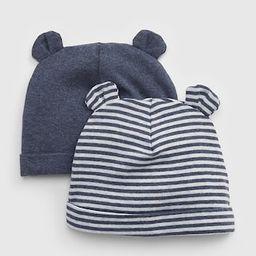 Baby First Favorite Stripe Bear Hat (2-Pack) | Gap (US)