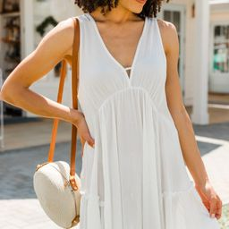 In My Sight Cream White Babydoll Dress   The Mint Julep Boutique