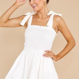 Wandering Heart White Dress   Red Dress