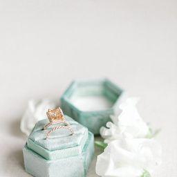 Sage Green Velvet  Ring Box, Monogram engagement ring box, custom ring box, personalized ring box...   Etsy (US)