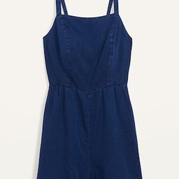 Chambray Cami Romper for Women | Old Navy (US)