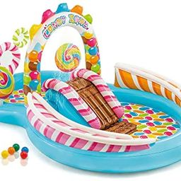 """Intex Candy Zone Inflatable Play Center, 116"""" X 75"""" X 51"""", for Ages 2+ 