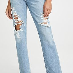 Emery Long Mid Rise Relaxed Straight Jeans   Shopbop