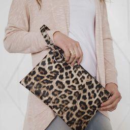 Dani & Em Women's Clutches Cream - Cream Leopard Oversize Clutch   Zulily