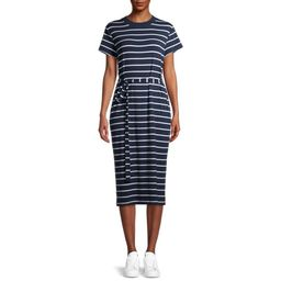 Time and Tru Women's Knit Midi Dress with Belt   Walmart (US)