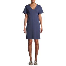 Time and Tru Women's V-Neck T-Shirt Dress | Walmart (US)