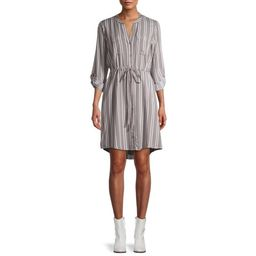 Time and True Women's Woven Utility Shirt Dress   Walmart (US)