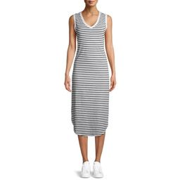 Time and Tru Women's Double V-Neck Shirttail Dress   Walmart (US)