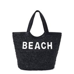 Time and Tru Extra Large Woven Straw Beach Travel Tote Bag   Walmart (US)
