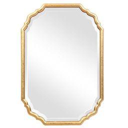 Metallic Gold Leaf Beveled Vanity Mirror | Kirkland's Home