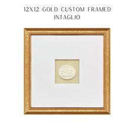 Intaglio framed  Custom Gold Framed Intaglio  Holiday Gift  | Etsy | Etsy (US)