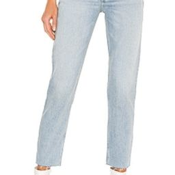 RE/DONE 90s High Rise Ankle Crop in Perfect Indigo from Revolve.com | Revolve Clothing (Global)