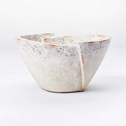 Decorative Sculptural Geometric Folded Bowl Cream - Threshold™ designed with Studio McGee | Target