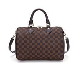 TWENTY FOUR Checkered Tote Shoulder Bag with Inner Pouch - PU Vegan Leather Shoulder Handbags Fas...   Walmart (US)