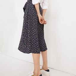 Ruffle-Wrap Midi Skirt in Spring Fling | Madewell