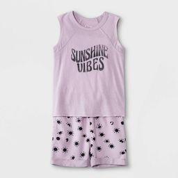 Toddler Boys' 2pc 'Sunshine Vibes' Tank Top & Shorts Set - art class™ Purple | Target