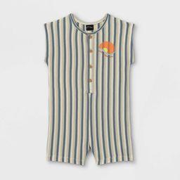 Toddler Boys' Striped Button-Front Romper - art class™ Blue | Target