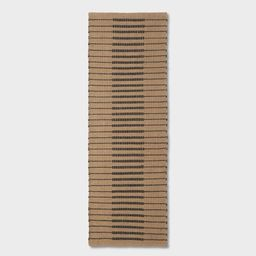 Reseda Hand Woven Striped Jute Cotton Area Rug Black - Threshold™ designed with Studio McGee   Target