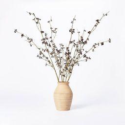 """7.5"""" x 4"""" Artificial Berry Plant Arrangement in Ceramic Vase - Threshold™ designed with Studio ...   Target"""