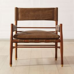 Nomad Leather Safari Chair + Reviews | CB2 | CB2