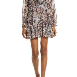 Floral Long Sleeve Chiffon Dress   Nordstrom