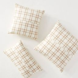 Woven Plaid Throw Pillow with Exposed Zipper Brown/Cream - Threshold™ designed with Studio McGe...   Target