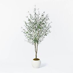 """93"""" Artificial Olive Tree - Threshold™ designed with Studio McGee   Target"""
