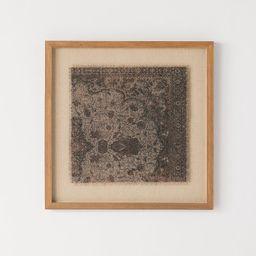 "18"" x 18"" Vintage Textile Framed Under Glass - Threshold™ designed with Studio McGee   Target"