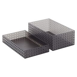 """like-it Bricks 13-3/4"""" Wide Tall Bin Smoke 