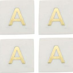 Set of 4 Monogram Marble Coasters | Nordstrom