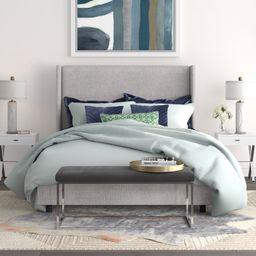 Charlotte Upholstered Low Profile Standard Bed   Wayfair North America