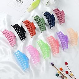 12 Pcs Large Hair Claw Clips Nonslip 4.3 Inch Big Banana Hair Claw Clips 6 Candy and 6 Matte Colo...   Amazon (US)