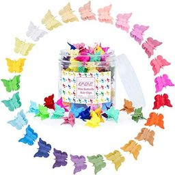 EAONE 100 Pieces Butterfly Hair Clips Candy Color Mini Hair Clips Claw Clips for Girls Women, 25 ...   Amazon (US)