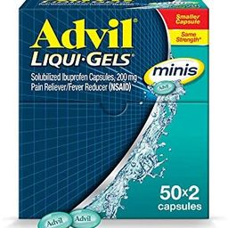 Advil Liqui-Gels minis Pain Reliever and Fever Reducer, Pain Medicine for Adults with Ibuprofen 2...   Amazon (US)