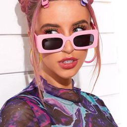 Rectangular Frame Sunglasses   SHEIN